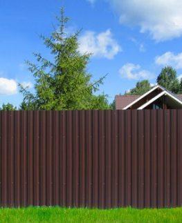 Забор из профнастила (профлиста) под ключ